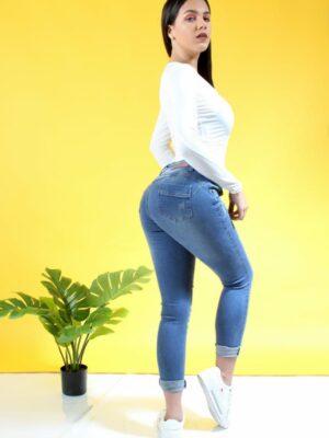 Jeans (Denim) Azul Intermedio 2
