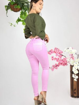 Jeans (Denim) Rosado Rasgado 2