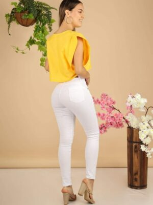 Jeans (Denim) Blanco Rasgado 2