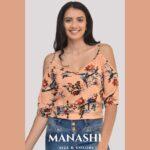 Manashi Blusa Estampada Polo Rosa